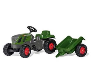 Traktor na pedala Fendt s prikolico