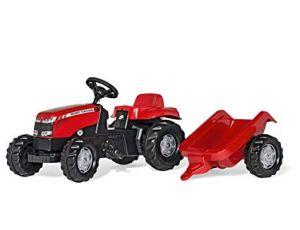 Traktor na pedala Massey Ferguson s prikolico